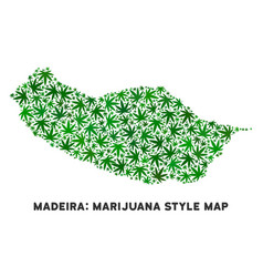 Marijuana collage portugal madeira island vector