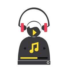 Music player 48 vector image