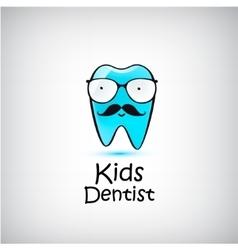 Pediatric Dental logo Funny vector