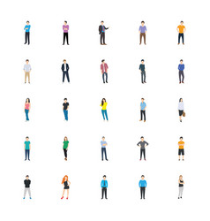 people character icons vector image