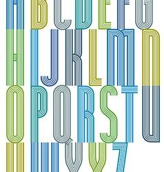 Poster retro colorful geometric decorative striped vector