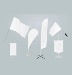 Promotional flags template vector