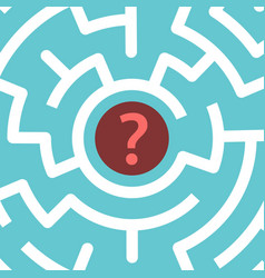 question mark inside maze vector image