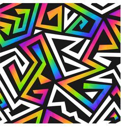 Rainbow color graffiti seamless pattern vector