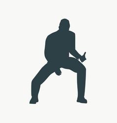 rock musician silhouette vector image