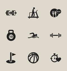 Set of 9 editable training icons includes symbols vector