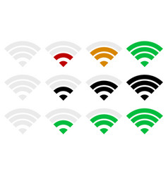 Signal strength indicator template wi-fi wireless vector