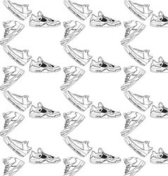 Sneakers pattern vector