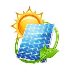 Solar energy and power concept vector