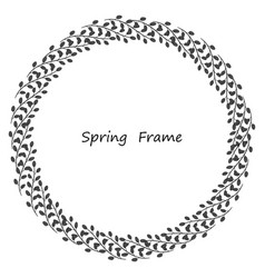 spring frame made up of leaves vector image