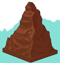 Swiss Chocolate in Matterhorn shape vector