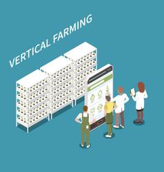 Vertical farming concept vector
