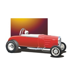 Vintage drag car vector