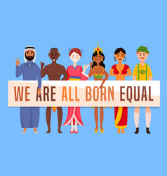 We are all born equal vector