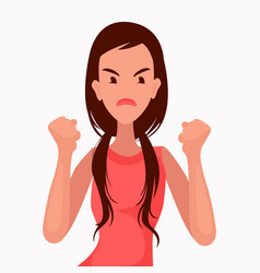 woman is angry discontent vector image