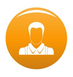 Worker avatar icon orange vector