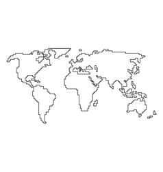 Simplified World Map Vector Images Over 640