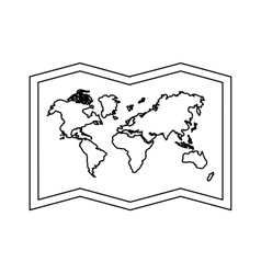 world map paper geography icon vector image