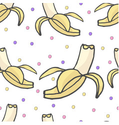 yellow banana seamless pattern ripe bananas vector image