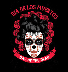day of the dead poster vector image