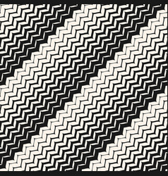 Diagonal zigzag lines seamless pattern halftone vector