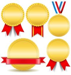 Golden Medals vector image
