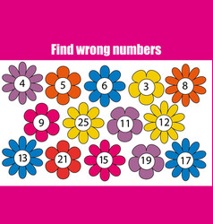 mathematics educational game for children find vector image
