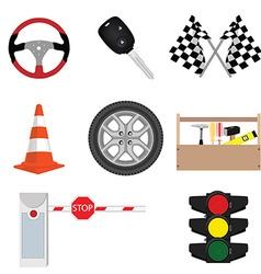 Car accessories vector image vector image