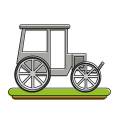 carriage or chariot icon image vector image