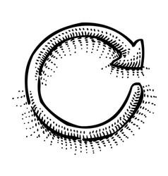 cartoon image of refresh vector image