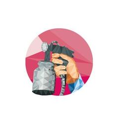Hand Spray Paint Gun Spraying Low Polygon vector image vector image