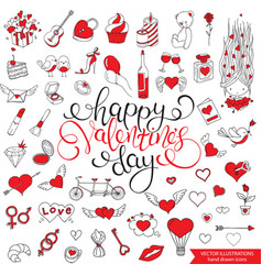 romantic seamless pattern valentines day vector image