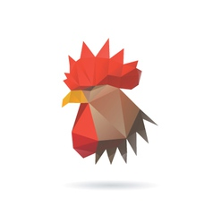 Rooster head isolated on a white backgrounds vector image vector image