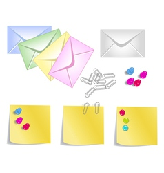 stationery products vector image vector image