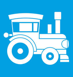 toy train icon white vector image vector image