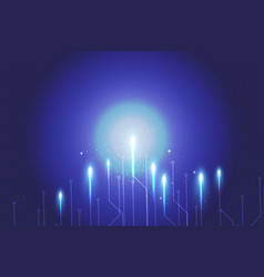 blue background abstract technology network vector image