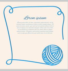 blue clew papercut yarn blue fibre vector image vector image