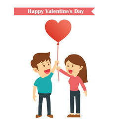 characters couples happy valentines day isolated vector image vector image