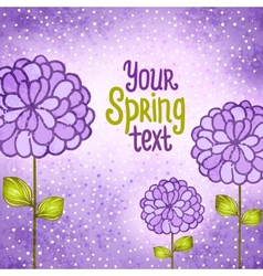 Flower background Floral card vector image vector image