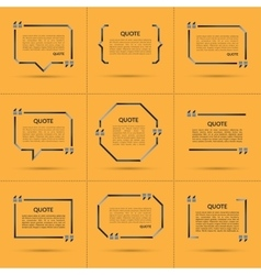 Set of quote templates vector image