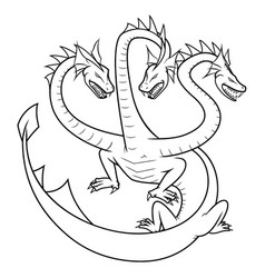 simple hydra logo lineart design vector image