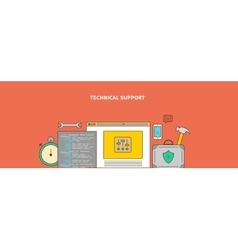 Accompanying of the Product Technical Support vector image