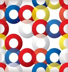 circular seamless tile red vector image