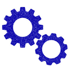 gears icon grunge watermark vector image