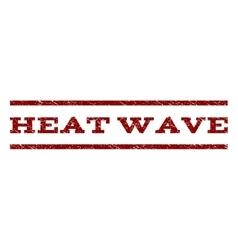 Heat Wave Watermark Stamp vector image