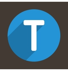 Letter T Logo Flat Icon Style vector image