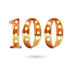 100 years golden anniversary logo vector