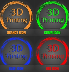 3D Print sign icon 3d-Printing symbol Fashionable vector