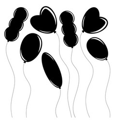 A set of flat black isolated silhouettes of vector