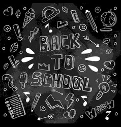 back to school funny black vector image